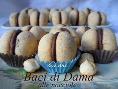 baci di dama alle nocciole Baked Potato, Muffin, Potatoes, Vegetables, Breakfast, Ethnic Recipes, Food, Chef, Pasta