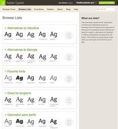 Using Adobe Typekit: Desktop vs. Web; Installing/Using; Exploring; Details.