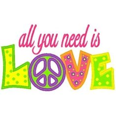 All You Need Is Love Applique - 3 Sizes! | Words and Phrases | Machine Embroidery Designs | SWAKembroidery.com Band to Bow