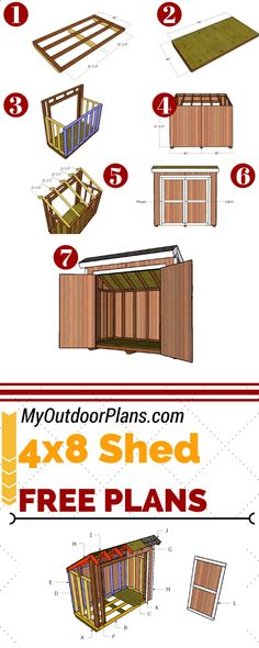 Shed Plans - Build a 4x8 lean to storage shed for the backyard, so you can keep all the tools organized. Full plans at MyOutdoorPlans.com #diy #shed Now You Can Build ANY Shed In A Weekend Even If You've Zero Woodworking Experience!