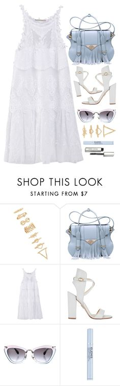 """""""White Summer Dress"""" by monmondefou ❤ liked on Polyvore featuring Forever 21, Ella Rabener, Ermanno Scervino, Paul Andrew, Miu Miu, Elemis, Bobbi Brown Cosmetics and white"""