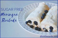 Amazing sugar-free meringue roulade that is soft, sweet an delicious keto dessert heaven. Serve with cream, berries or 90% chocolate - see how.