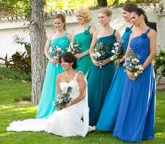 multiple shades for bridesmaid dresses