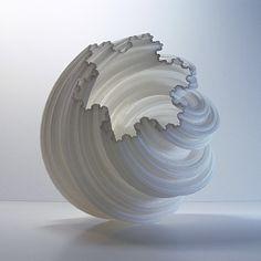 Extra Blissful Vase, Spiral Koch Fractal, 3D Printed Modern Art Vase,  Vessel for Interior Design, Desk Accessories, Centerpieces by MeshCloud on Etsy https://www.etsy.com/listing/209120745/extra-blissful-vase-spiral-koch-fractal