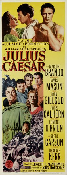 Julius Caesar The assassination of the would be ruler of Rome at the hands of Brutus and company has tragic consequences for the idealist and the republic. Cinema Posters, Film Posters, Marlon Brando Movies, Julius Caesar 1953, Louis Calhern, Movie Facts, Movie Trivia, Bollywood Posters, Vintage Movies