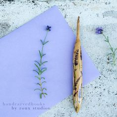 I'm so giddy that I actually have fresh lavender trimmings to pair in the scene with this lavender hook! Growing Lavender, Crochet Hooks, Hand Carved, Scene, Carving, Fresh, Woody, Hot, Instagram