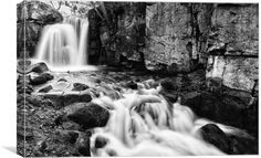 Lumsdale Waterfall by Jason Moss Photography. Original photographic wall art direct from the photographer. Black And White Prints, Black N White Images, Free Ecommerce, Waterfall, Canvas Prints, Wall Art, Shops, Photography, Community