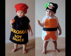 The twins will go as sushi for Halloween 2013.  Too cute! I hope nobody tries to eat them.  Maybe I should take them to a sushi restaurant that night and see their Dad can get a discount for their cuteness factor :)