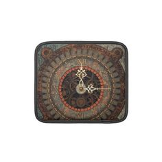 Choose from a variety of Steampunk iPad sleeves or make your own! Steampunk iPad sleeves from Zazzle. Shop for new custom iPad 3 & 4 sleeves! Steampunk Theme, Steampunk Clock, Latin Phrases, Macbook Sleeve, Cogs, Mechanical Engineering, Laptop Sleeves, Gears, Industrial
