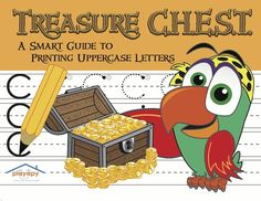 Playapy's TREASURE C.H.E.S.T.: A Smart Guide to Printing Lowercase Letters   * Created by a Pediatric Occupational Therapist  * 64-page workbook including coloring pages and activity sheets   * Letters are practiced in formation groups called Clocks, Hats, Hooks, Ears, Slides, & Trees   * Additional pages for children with small print