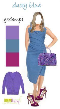Dusty blue is ook een blauw voor jou - laat je verrassen Fashion Colours, Colorful Fashion, Belle Epoque, Spring Summer Fashion, Autumn Fashion, Soft Summer Palette, Over 60 Fashion, Vestidos Vintage, Dusty Blue