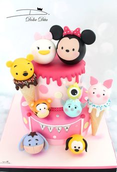 Related posts: Disney® Mickey Mouse Cake Maker 69 trendy cake birthday disney princess cupcake toppers Super cake disney princess ariel the little mermaid ideas Disney Desserts, Disney Cakes, Disney Food, Tsum Tsum Birthday Cake, Tsum Tsum Party, Disney Tsum Tsum, Cupcakes, Cupcake Cakes, Baby Shower Sweets