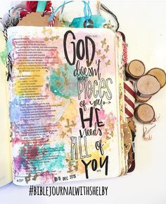 Bible Journaling, shelbymaryann #biblejournalwithshelby #illustratedfaith