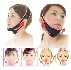 Face Lift Up Belt Sleeping Mask Massage Slimming Face Shaper Anti-Aging EM  | eBay