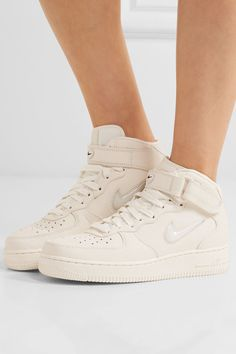 ebc0b1652fb9 Nike - Nikelab Air Force 1 Textured-leather High-top Sneakers - Off-