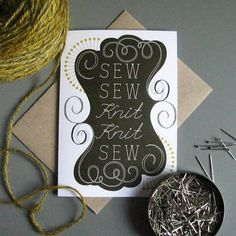 Sewing Themed Greetings Cards by Tilly Flop Designs | Baker and Maker