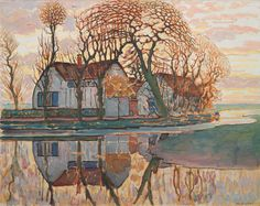 Piet Mondrian Dutch, 1872–1944 .  Farm near Duivendrecht | The Art Institute of Chicago