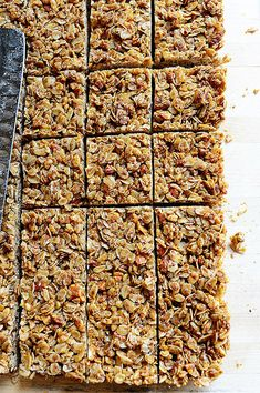 The pioneer woman's granola bars. Yum!  I drizzled with dark chocolate & added a little coconut.