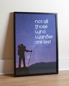 Great for Tolkein lovers. See more at www.etsy.com/listing/106512726/those-who-wander-tolkien