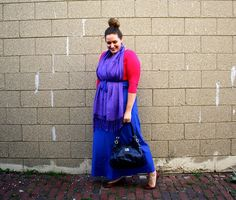 In Kinsey's Closet | Color blocking with a maxi dress