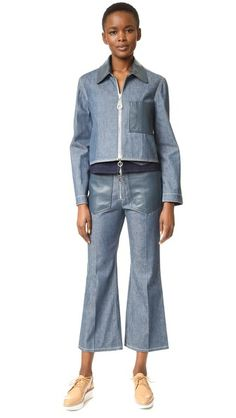 EDUN Denim Cropped Jacket