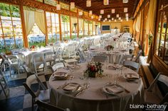Portland Wedding Venues - a wedding reception in the Apple House of Mt. Hood Organic Farms