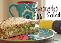 Avocado & Egg Sandwich..no mayo.  {I made this and used sliced cucumbers instead of bread! Delicious! ^_^}
