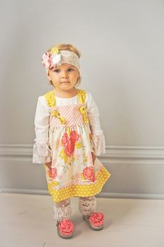 Golden Knot Dress for Toddlers.