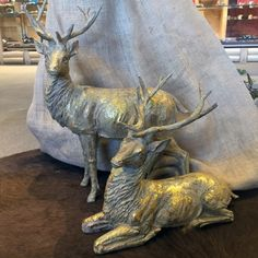 SALE! - National Cowboy Museum - Gold Resin Deer