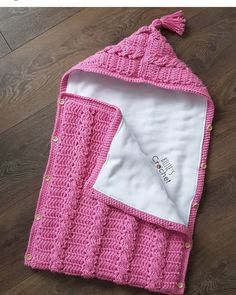 Pink,grey,and cream baby sleeping bag with wooden buttons. Cute for a photo prop or in the bassinetThis item is unavailable Crochet Baby Cocoon Pattern, Baby Knitting Patterns, Crochet Patterns, Knitted Baby Blankets, Baby Blanket Crochet, Crochet Cable Stitch, Diy Crafts Crochet, Crochet Baby Clothes, Baby Sweaters
