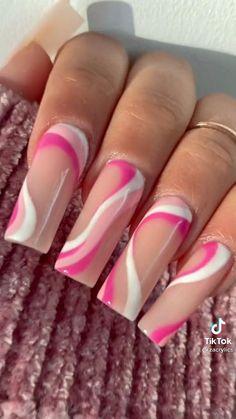 Diy Acrylic Nails, Square Acrylic Nails, Diy Nails, Cute Nail Art, Nail Art Diy, Easy Nail Art, Nail Art Designs Videos, Fall Nail Art Designs, Work Nails