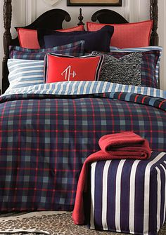 Tommy Hifliger Newport Bay Duvet Set Twin By Tommy