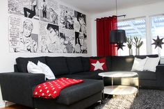 Modesty - Comic Strip 2 - Wall mural, Wallpaper, Photowall, Home decor, Fototapet, Valokuvatapetit
