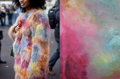 Julia Sarr Jamois street style at Paris Fashion Week Spring 2013 | Painting by EASTWOODART   #fashion #inspiration #playful #photography #art #artistic