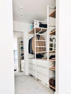 Ikea Wardrobe, Ikea Closet, Walk In Wardrobe, Bedroom Wardrobe, Walk In Closet, Elvarli Ikea, Ikea Hack, Waredrobe Inspiration, Closet Built Ins