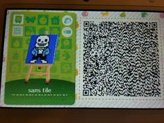 Spam monster undertale papyrus and sans tiles qr codes plus