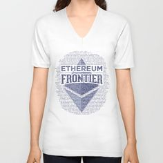 Ethereum Frontier Grunge blue original design dedicated to all Ethereum developers, supporters, and cryptocurrency fans. V-neck T-shirt, All over T-shirts, T-shirts, Hoodies, Duvet covers, Shower curtains, Tote bags, Wall clocks, Throw pillows, Wall tapestries, Art prints, Framed art prints, Canvas prints, iPhone cases, Tablet skins, iPad sleeves, Mugs, Rugs, iPad tablet skins, Gift cards, etc. | Design by Andras Balogh | CryptoDroids –  Cryptocurrency design collection…