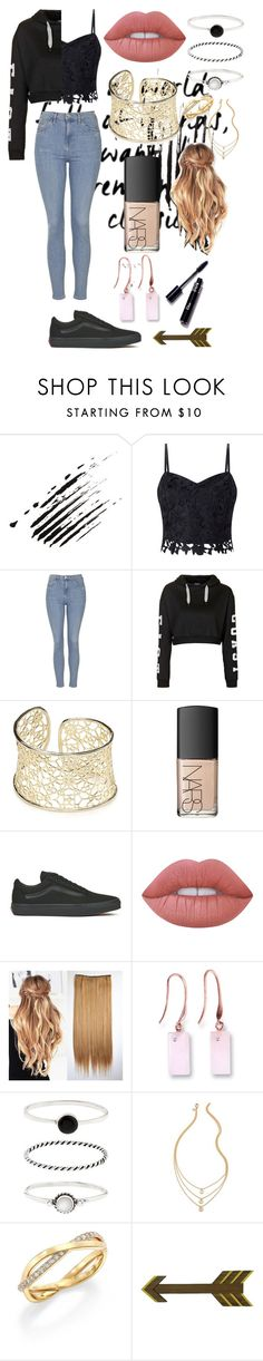 """Cute and Stylish"" by rhiannonpsayer ❤ liked on Polyvore featuring Lipsy, Topshop, Kendra Scott, NARS Cosmetics, Vans, Lime Crime, Ona Chan, Accessorize, De Beers and WALL"