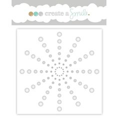 Create A Smile FOCAL DOTS Stencil scs26 Preview Image