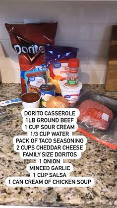 Hamburger Dishes, Easy Casserole Recipes, Cream Of Chicken Soup, Appetizer Recipes, Easy Dinner Recipes, Appetizers, Ground Beef Recipes, Diy Food, Food Dishes