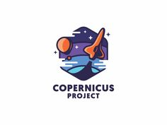 Copernicus Project by MisterShot #logo, #mark, #space, #rocket, #sky, #balloon, #patch,