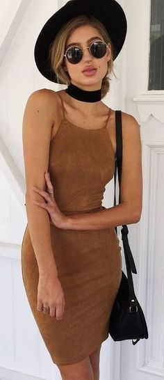 #muraboutique #label #outfitideas |  Camel Cami Dress