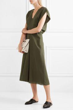 Jil Sander - Wool Midi Dress - Army green - FR42