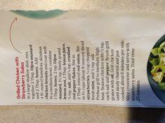 Grilled chicken with strawberry salsa-- Oprah magazine