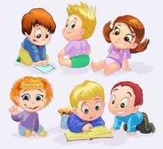 los niños de dibujos animados de vectores | Descargar Vectores gratis