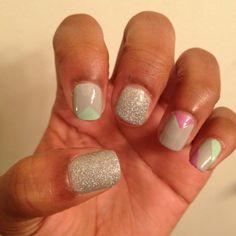 Nailss! Did them myself :) #nails #nailart #pastels #glitter #DIY #DIYnails