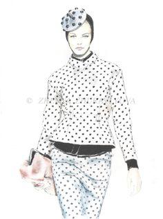 Fashion illustrator Zhenya Zhuravlyova (art, artist, drawing)