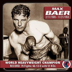 Max Baer Boxer | Max Baer KO 11 Primo Carnera