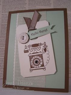"""Hello"" with Timeless Talk Stamp Set, Jenny Peterson, Stampin' Up! Demonstrator"