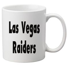 Las Vegas Raiders Mug. Las Vegas Raiders Mug made with high quality Vinyl.